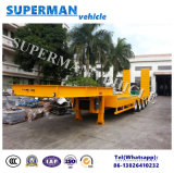 80t Hydraulic Lowbed/Low Deck/ Low Loader Cargo Semi Truck Trailer