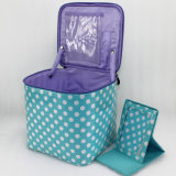 Cute Dots Cosmetic Bag PVC Wholesale with Mirror