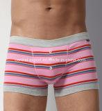 Yarn-Dye Strip New Style Men′s Boxer Short Underwear with Bottom