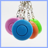Multi Color Rounded Fashion 130 dB Aloud Personal Alarm with Key Ring LED Button Support OEM