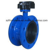 Cast Iron/Ductile Iron Lined Flanged Butterfly Valve