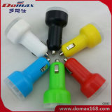 Mobile Cell Phone Dual USB Power Adaptor Retractable Car Charger