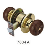 Classical Style Good Quality Cylindrical Wooden Knob Lock (7804 A)