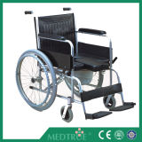 CE/ISO Approved Hot Sale Cheap Medical Foldable Commode Aluminum Wheel Chair (MT05030061)