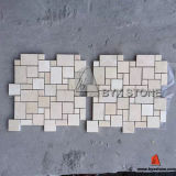French Style Beige Marble Mosaic Pattern Tiles