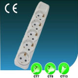 Electrical Five Ways EU Plug Socket Outlet