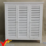 Chinese Antique White Vintage Wooden Cabinet