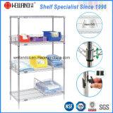 NSF Metro Standard Healthcare Chrome Metal Storage Shelving for Hospital Use