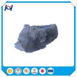 Warm Soft Plush Stuffed Gray Animal Slippers for Adult
