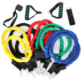 11PCS Resistance Bands Set 5 Resistance Level with Sleeve for Training Equipment