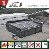 20 by 20 Tent Cube Tent with Inflatable Roof for Audi Car Show
