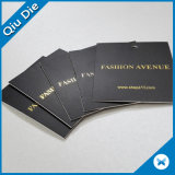 Hot Stamping Gold Paper Hangtag for Clothing Fabric