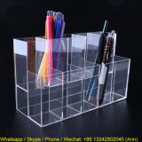 Custom High Transparent Acrylic Pen Holder, Pencil Organizer