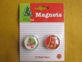 Promotional Souvenir Christmas Glass Fridge Magnet