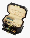 Dark Rosewood Matt Wooden Music Jewelry Box