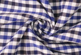 Royal/Navy Checks Twill 60 Cotton 40 Polyester Fabric Shirting
