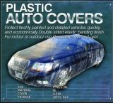 Plastic Auto Car Cover with Elastic Band for Nice Fit