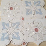 A Grade Beautiful Waterjet, White Marble Mosaic Tile