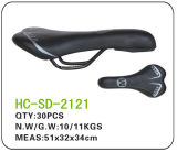 Leather MTB Saddle, Black (SD-2121)