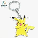 Custom Wholesale Supply Yellow Paint Promotion Metal Pikachu Keychain