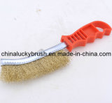 Steel Wire Plastic Handle Knife Polishing Brush (YY-066)