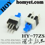 China Factory High Quality Push Switch/DIP Tact Switch with 7*7mm 6pin (HY-77ZS)