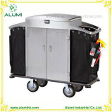 Hotel Stainless Steel Maid Service Housekeeping Cart
