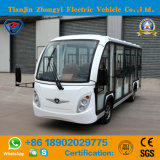 Zhongyi 14 Seats White Enclosed off Road Battery Powered Classic Shuttle Enclosed Electric Sightseeing Car with High Quality