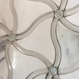 High Quality Calacatta Gold Waterjet, Polished Marble Tile