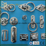 Stainless Steel Square Pad Eye with Ring