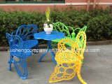 Butterfly Shape Cast Aluminum Table and Chair Package