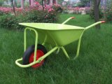 Cheap Garden Handle Barrow Carts with Single Rubber Wheels Wb5009