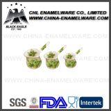 3PCS Logo Customized Porcelain Enamel Coffee Warmer with Long Handle