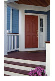 Popular America Style Fiberglass Door for Entrance and Sheds (CHAM-AFD003)