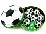 Football Design Christmas Ball Tin for Chocolate and Chewing Gum