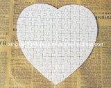 Heart Shape Pearl White Paper Puzzle