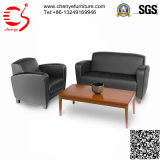 Modern Leisure Leather Black Office Sofa (CY-S0031)