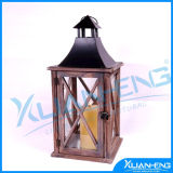 Antique French Style Decorative Wooden Lantern