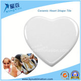 Heart Shape Ceramic Tile for Sublimation