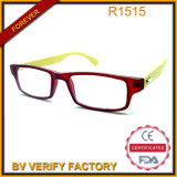 R1516 Thin Frame Handmade Natural Bamboo Temples Reading Glasses