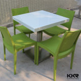 Modern White Artificial Stone Table and Chair for Food Court