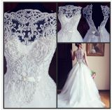 off-Shoulder Beaded Crystal Bridal Wedding Dresses (ALSW014)