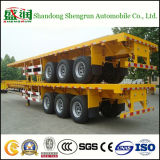 3 Axle Platform Flatbed Container Transport Truck Trailer