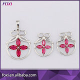 Hot Sale Hanging Trendy Flower Design Fashion Dubai Gold Jewelry Sets