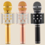 Wireless Microphone with Mic Speaker Mini Karaoke Player KTV Singing