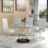 Shengfang Glass Dining Table Sets Modern Furniture PU Chair Modern Furniture