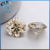 1.5 Carats Round H&a Cut Champagne Colorful Moissanite Diamond for Fashion Jewelry