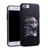 Mobile Phone Embroidery Sewing Skull Case