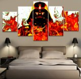 Modern Painting Picture Cuadros Decoration Modular 5 Panel Movie Star Wars Character Canvas Art Wall Decor for Living Room