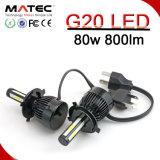 New COB Chips G20 Car LED Headlight Headlamp Bulbs H4 80W 8000lm